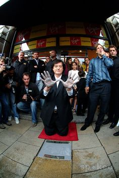 Jimmy Page founding member of Led Zeppelin at the Inauguration of London's new Walk of Fame outside The new Virgin Megastore at Piccadilly Circus