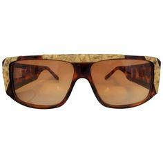 Emmanuelle Khanh 1980s python effect vintage sunglasses
