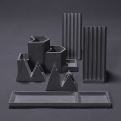 Umn Design creates concrete stationery based on folded paper | Dezeen | Bloglovin'