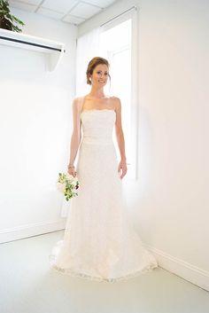 Strapless embroidered a-line wedding gown - Elizabeth | Emily Kotarski Bridal