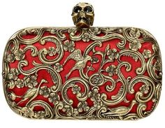 Celebrities who wear, use, or own Alexander McQueen Red Ornate Skull Clutch. Also discover the movies, TV shows, and events associated with Alexander McQueen Red Ornate Skull Clutch. Alexander Mcqueen Clutch, Alexandre Mcqueen, Alex Mcqueen, Fashion Bags, Fashion Accessories, Runway Fashion, Lizzie Hearts, Beautiful Bags, Gothic Fashion