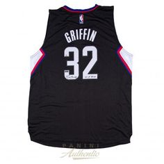 "BLAKE GRIFFIN Autographed Black Clippers Swingman Jersey with ""10-11 ROY""…"