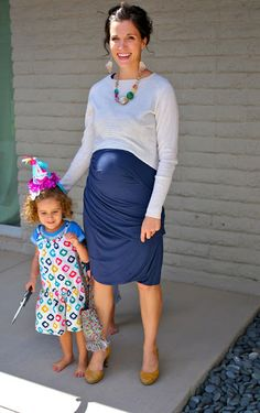 Sweater over dress by Cardigan Empire. Super versatile look during pregnancy!