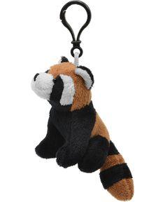 Red Panda Wildlife Plush Clip-On Stuffed Animal by Unipak