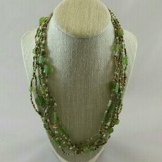 "GWaC Java Fun Necklace - Lime PLEASE DO NOT PURCHASE THIS LISTING! Individual listings ready for purchase are found in the Multiples Listings section. (5/12/24)  Java Fun Necklace - Lime Fun and colorful beads make up this necklace! Glass and seed beads in lime, bronze and cream form a necklace of 6 strands. Length: 20""  Region: Indonesia, Fair Trade Gifts with a Cause  Jewelry Necklaces"