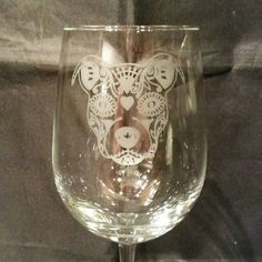 Hey, I found this really awesome Etsy listing at https://www.etsy.com/listing/254385639/sugar-skull-day-of-the-dead-dog-etched