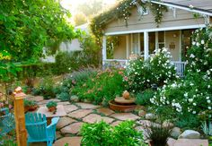Yes you can have a cottage garden in FRONT of your house when you have limited space.  How cute is this!