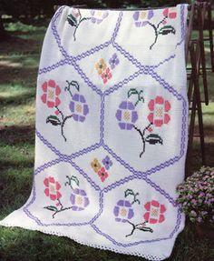 Trellis Garden Afghan: so vintage, so pretty!