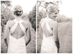 Santa Ynez California Small Vineyard and Private Farm Wedding Photography - Stunning Bride, backless gown  Boutique Destination Wedding Photography by Paul & Jewel - International Lifestyle Photographers