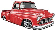 Rad Red 1955 Chevy Truck