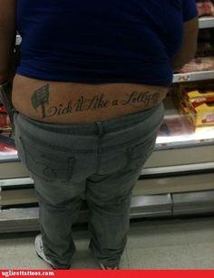 Is this a he or a she? I know it's a tramp stamp, but that back looks kinda hairy....
