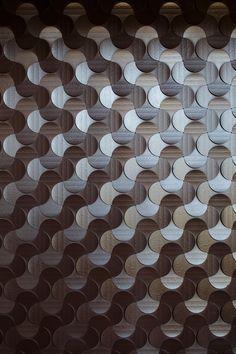 飲食店 壁面 銀杏柄の組み合わせ2