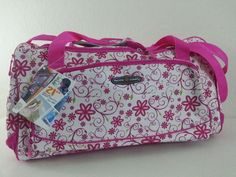"NWT Pacific coast 21"" DELUXE SPORT DUFFEL Pink Daisy Travel Gear gym bag SD-618 #PacificCoast #ebay #PacificCoast #SportDuffel"