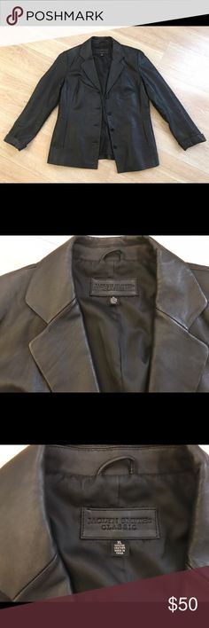 Jacklyn Smith classic genuine leather jacket Perfect condition , genuine leather, size extra large , worn once it's not really my style , can ship asap , smoke and pet free. Jaclyn Smith Jackets & Coats