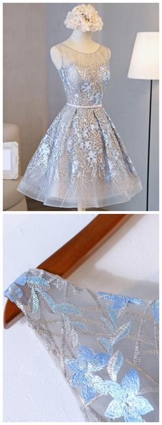 Silver Homecoming Dresses, Short prom dress,Cheap Homecoming Dresses,Embroidered Homecoming Dresses cheap,short Homecoming Dresses,Plus Size Homecoming Dresses,simple Homecoming Dresses,Cute Homecoming Dresses,#graduationparty  #homecomingdresses #lacedress
