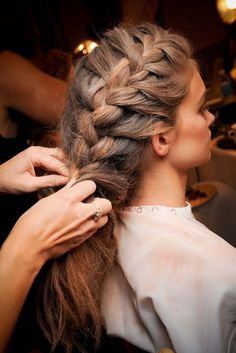 French braids will never ever go out of style. Experiment with them.