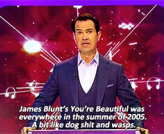 I got Jimmy Carr!  You and Jimmy would hit the town together. He'd wingman you, but then get bored and pull you away again. You'd do ironic shots and then completely take over the dance floor. You'd end your night getting into an argument with some strangers in a McDonald's. Which British Comedian Should You Get Drunk With?