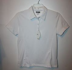 Womans Size M (8-10) Play Dry Greg Norman Polo/Golf Short Sleeve Shirt NEW