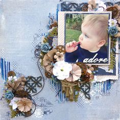 Layout made with Maja Design Denim and Friends Papers and 2Crafty Chipboard
