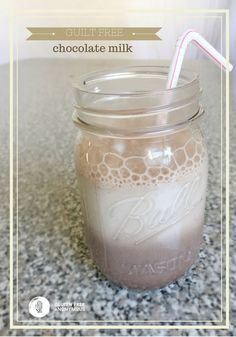Guilt Free Chocolate Milk  - every kid or kid-at-heart will love this cold drink as a healthy snack or alongside a nutritious breakfast.   cupcakesandkalechips.com   gluten free recipe, vegan option