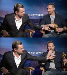 Leonardo DiCaprio and Tom Hardy and Oscar