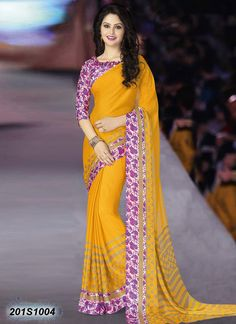 Search results for: 'bedazzling yellow coloured bemberg georgette printed saree' Trendy Sarees, Fancy Sarees, Indian Beauty Saree, Indian Sarees, Sambalpuri Saree, Saree Sale, Crepe Saree, Punjabi Girls, Saree Trends