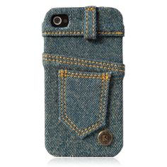 Blue Jean IPhone4/4S Case-Waterwash Back  This one is cool!