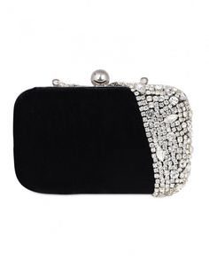 b3e8f26217 Buy Crystal Embellished Black Box Clutch Online at Low prices in India on  Winsant, India