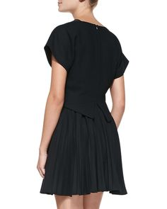 Camilla Pleated Fit-and-Flare Dress