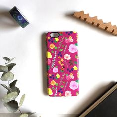 Ladybugs Floral iPhone7 Case Tropical Flowers Wild by CanigrinShop