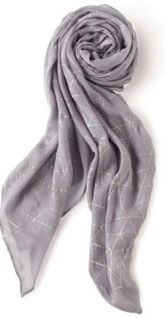 stella and Dot Westwood Scarf - Dove Grey Metallic | eBay