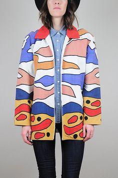 vintage Embroidered Mexican jacket //  NOIROHIO VINTAGE