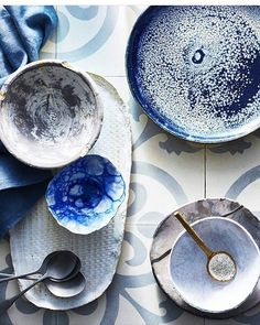 Meadow Ceramics salt cellar in good company at @audreydavisphotography Love the styling!