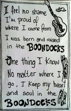 Boondocks - Little Big Town - chorus