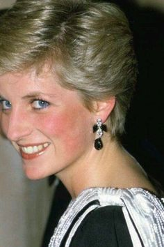 Princess Diana Jewelry These drop earrings from Butler and Wilson are from Diana's paste collection and are cut in colored crystal. There were many pairs of heart shaped earrings in Diana's collection. This pair has a small central heart surrounded by paste diamonds. Diana wore these in Canada in May 1986 and also in Spain in 1987.