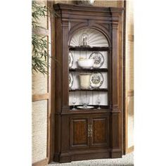 Complete your home with the Warwick Corner Cabinet. This traditionally styled display piece will provide your formal dining area or living room with ample storage and showcase space while infusing your home with handsome elegance. #Beautiful #detailing
