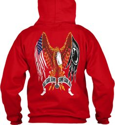 All Gave Some Some Gave All Red Sweatshirt Back