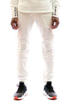 KLEEP KLEEP PREMIUM LIGHT WASHED LYCRA TWILL PANTS