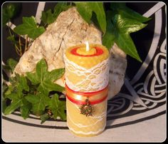 Witch's Midsummer Litha Handrolled Beeswax by PaganMagicalCrafts