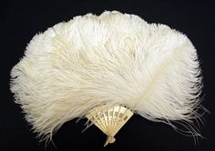 Fan ~     mid-19th century ~  American or European ~    ivory, feathers