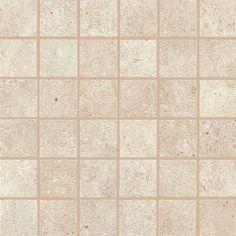 """Bath #2 Shower Floor Tile - Daltile Haut Monda Nobility White HM08 2""""x2"""" mosaic"""