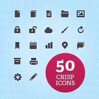Exclusive Freebie: 50 Crisp Web UI Icons by Pavel Ma?ek
