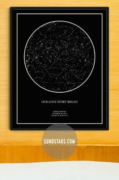 Custom star map - original wall decor and unique gift by Sundstars Personalized Wedding Gifts, Customized Gifts, Kids Birthday Cards, Art Birthday, 7 Year Anniversary, I Love You Mother, Printable Star, Star Chart, Watercolor Map