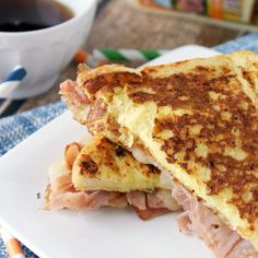 This cheesy Havarti Monte Cristo is a comforting and easy breakfast perfect for those hectic holiday weekends!