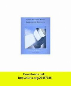 wayne l winston operations research solutions pdf