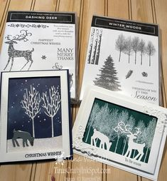 Holiday Catalog Sneak Peek Winter Woods ⋆ Tina Wardell~Stampin' Up! Happy Christmas Wishes, Christmas Cards 2018, Homemade Christmas Cards, Stampin Up Christmas, Christmas Deer, Xmas Cards, Holiday Cards, Handmade Christmas, Christmas Holiday