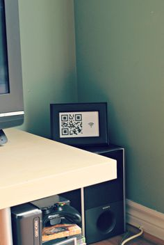 provide guests with your wireless password via your very own QR code!