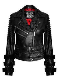 Killstar Buckled Leather Jacket