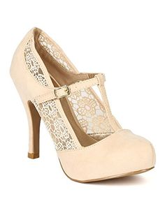 Qupid BB41 Women Suede Floral Lace T-Strap Platform Stiletto Heel Pump - Nude (Size: 7.5) Qupid http://www.amazon.com/dp/B00MN04T6G/ref=cm_sw_r_pi_dp_QJOxub1CX7R7E