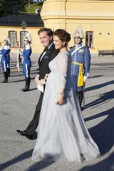 Princess Madeleine and Chris O'Neil attends the pre-wedding dinner of Prince Carl Philip and Sofia.